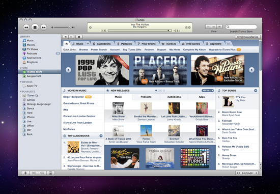 iTunes Store Redesign Small